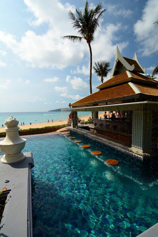 Beach bar in a tropical resort. Phuket. Thailand royalty free stock photos