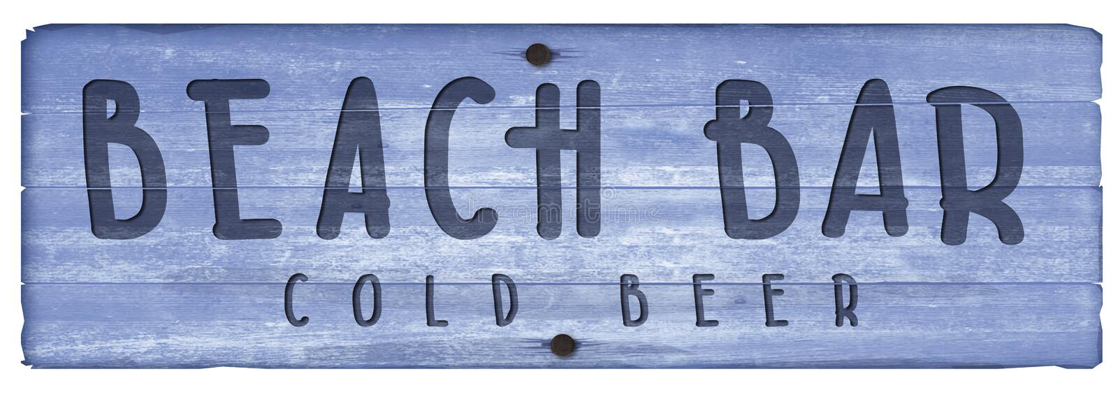 Beach Bar Wooden Plaque Sign vintage cocktails royalty free illustration