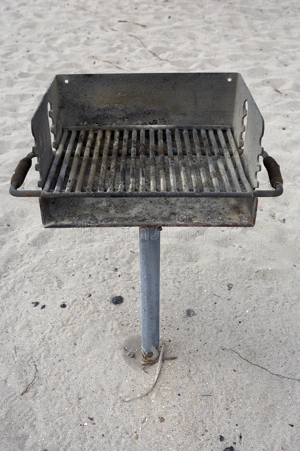 Beach Barbecue public grill stock images
