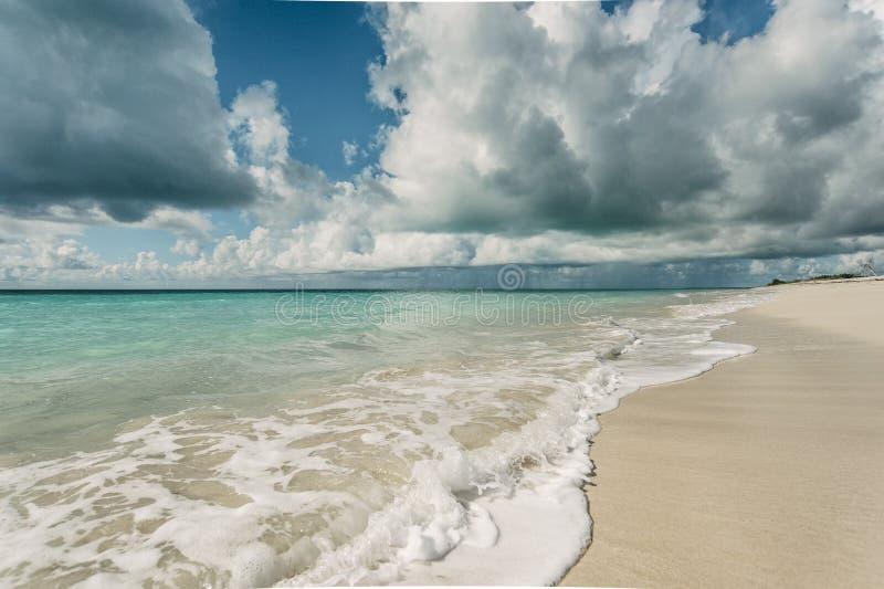 Beach in Barbuda stock photo