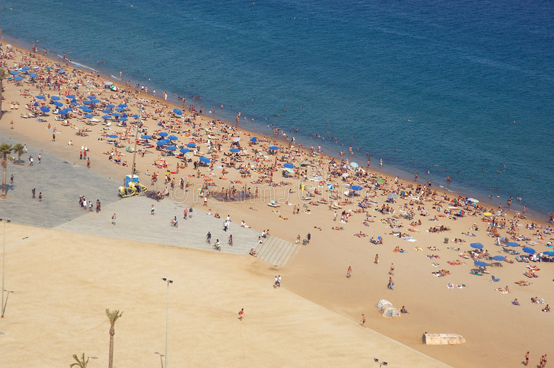 beach barcelona obraz royalty free