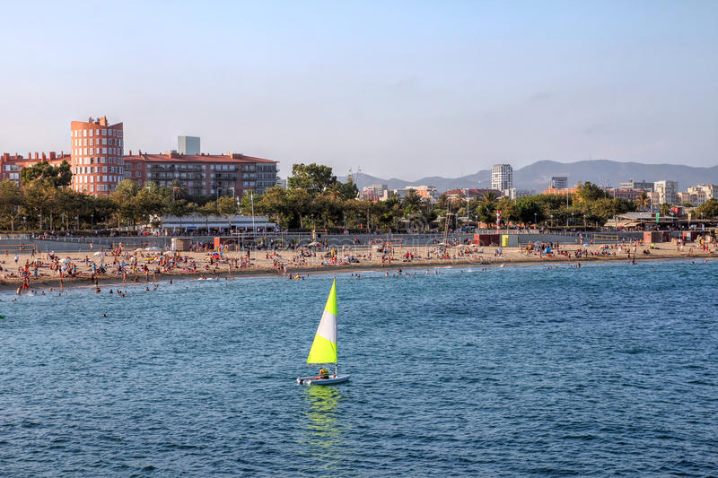 Beach in Barcelona, Spain royalty free stock photo