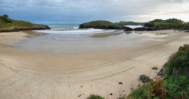Beach of Barro near Llanes village royalty free stock images