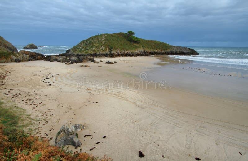 Beach of Barro near Llanes village. Landscape in beach of Barro near Llanes village, Asturias, Spain royalty free stock images