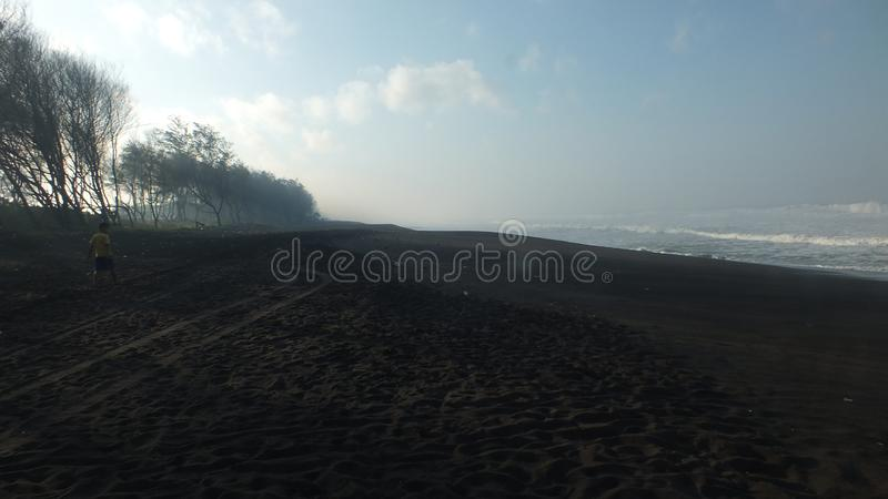 Beach baru, Central Java Indonesia. Morning atmosphere on the beach baru, Central Java Indonesia stock images
