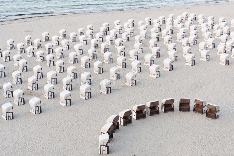 Beach baskets royalty free stock image