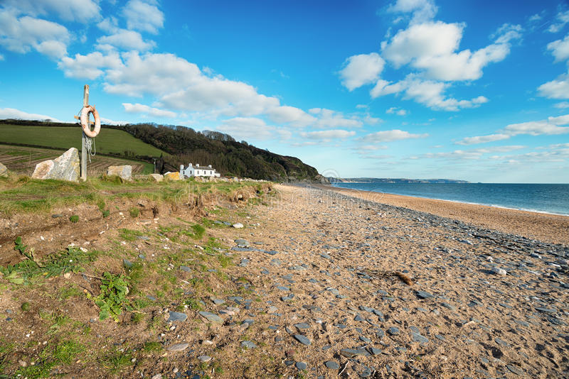 The Beach at Beesands in Devon royalty free stock photo