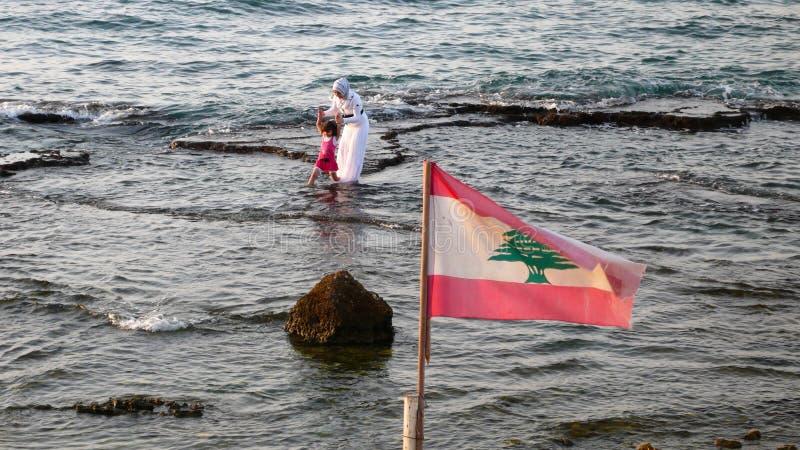 Download Beach. Beirut. Lebanon editorial photography. Image of bandera - 34775282