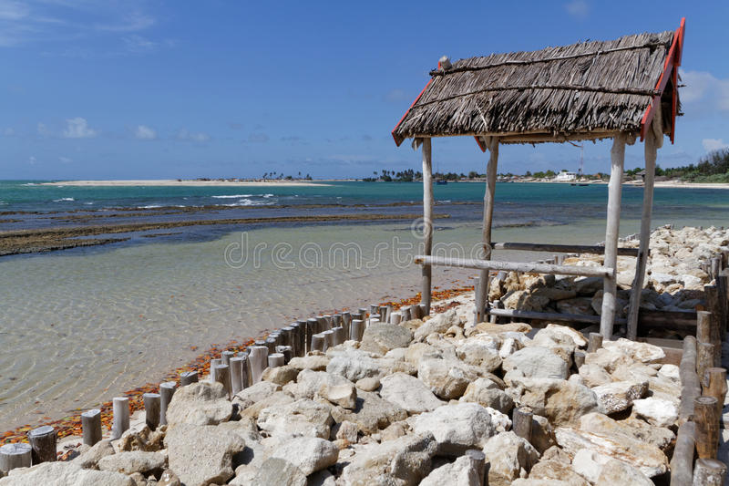 A beach of Belo-sur-Mer, Madagascar royalty free stock photography