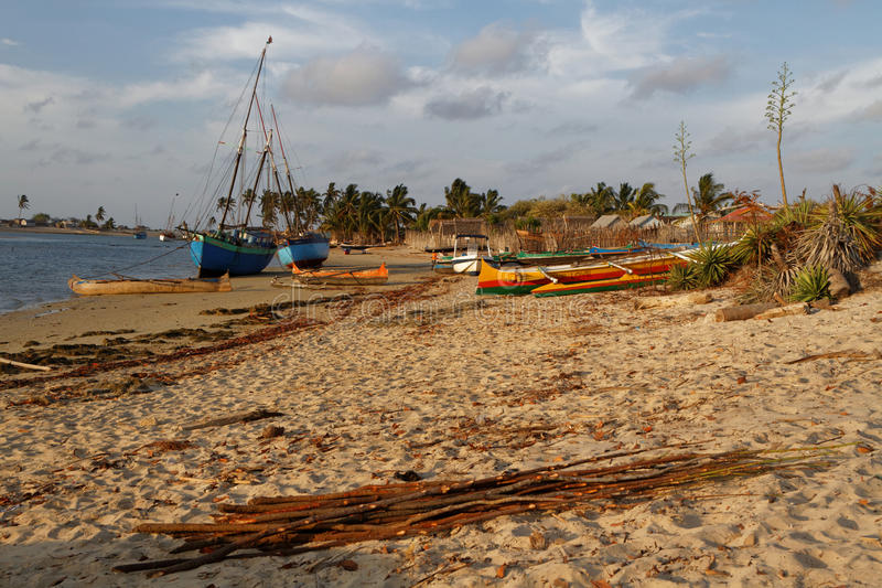 The beach of Belo-sur-Mer, Madagascar royalty free stock photography