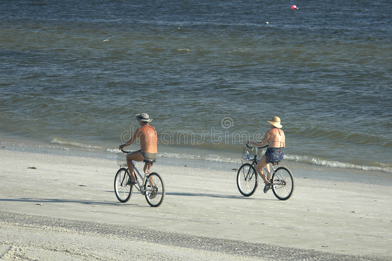 Download Beach Bikers stock photo. Image of couple, riding, retirement - 462876