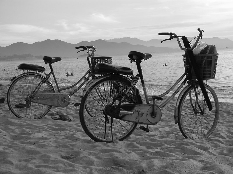 Beach Bikes royalty free stock photo