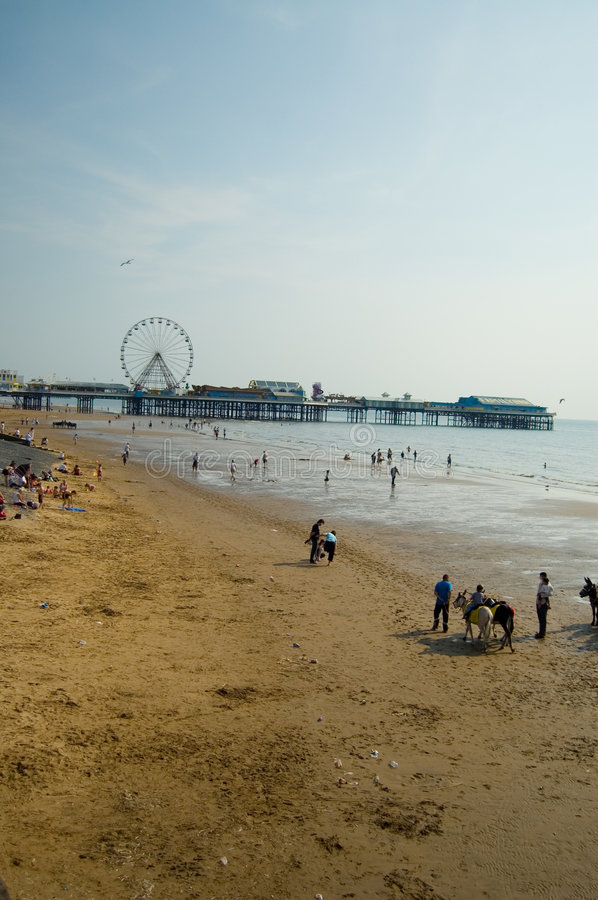 On the beach,blackpool royalty free stock photo