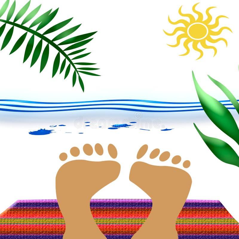 Beach Blanket Feet Stock Photo