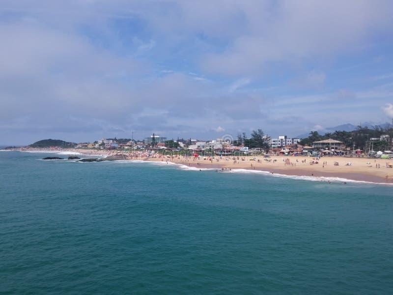 Beach blue coast macaé brazil. Coast Macae Rj Brazil beach blue coast. wonder in the summer stock images