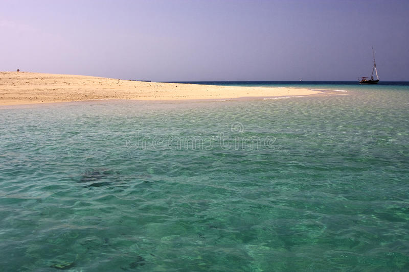 Download Beach And Boat In Sand Bank Stock Photo - Image: 28222230