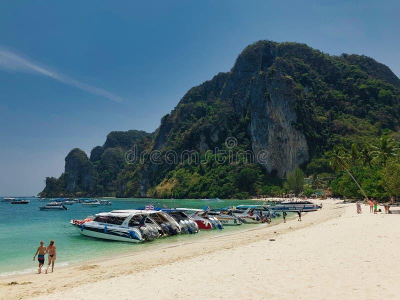 Krabi`s island in Thailand stock photo