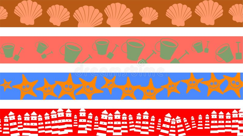 Download Beach borders stock illustration. Image of decor, patterns - 5980438