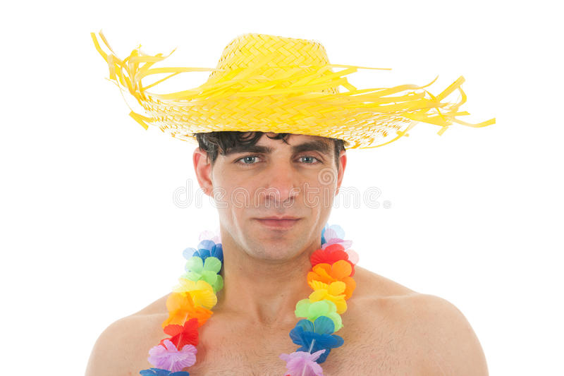 Download Beach Boy With Flower Garland Stock Image - Image: 39750881