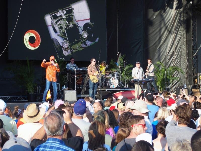 Beach Boys spełnianie przy Teksas stanu jarmarkiem zdjęcia royalty free