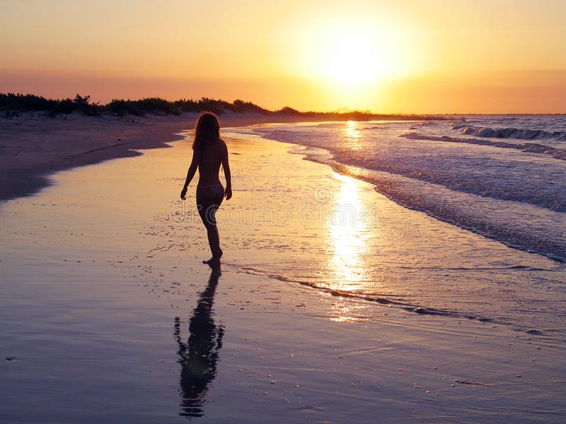 Beach Brazilian girl royalty free stock image