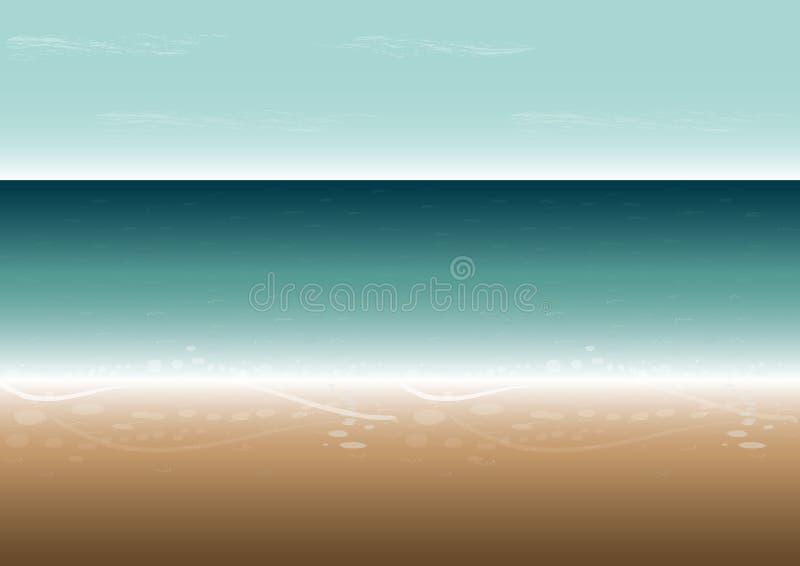 Beach Bright Day Digital Illustration royalty free stock image