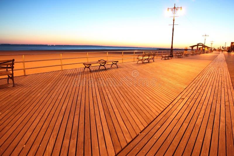 beach brighton ny sundown στοκ εικόνες