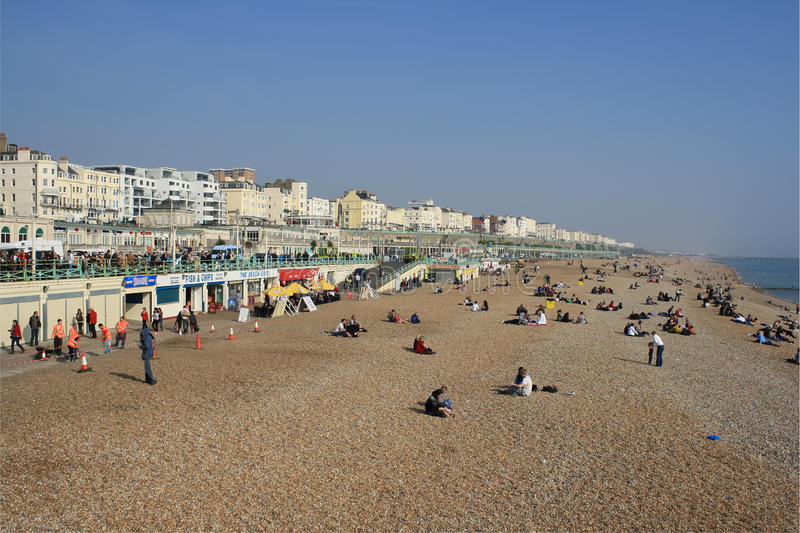 Download The beach at Brighton, UK editorial photography. Image of destination - 20967607