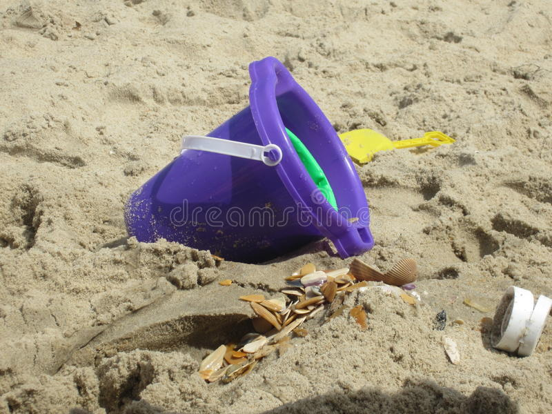 Beach Bucket royalty free stock images