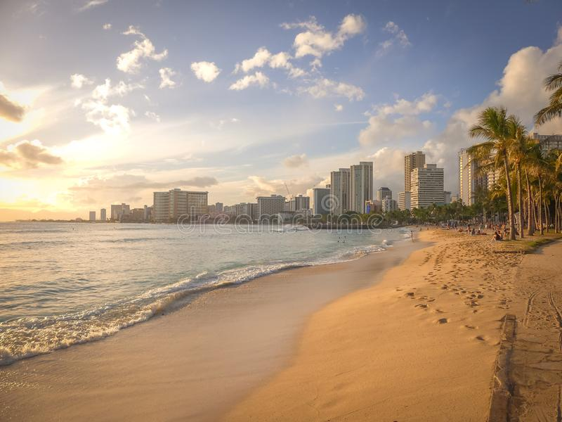 Beach, Buildings, City royalty free stock photo