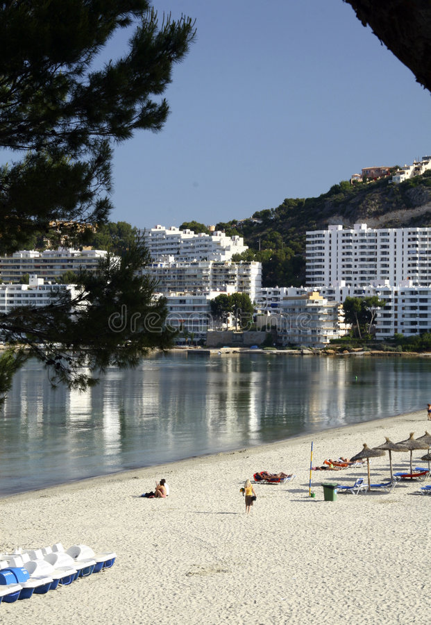 Download Beach And Buildings At Majorca Stock Photo - Image: 2399642