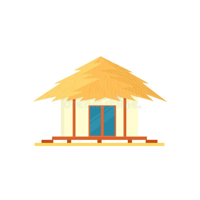 Beach bungalow icon. Vector illustration isolated on white background royalty free illustration
