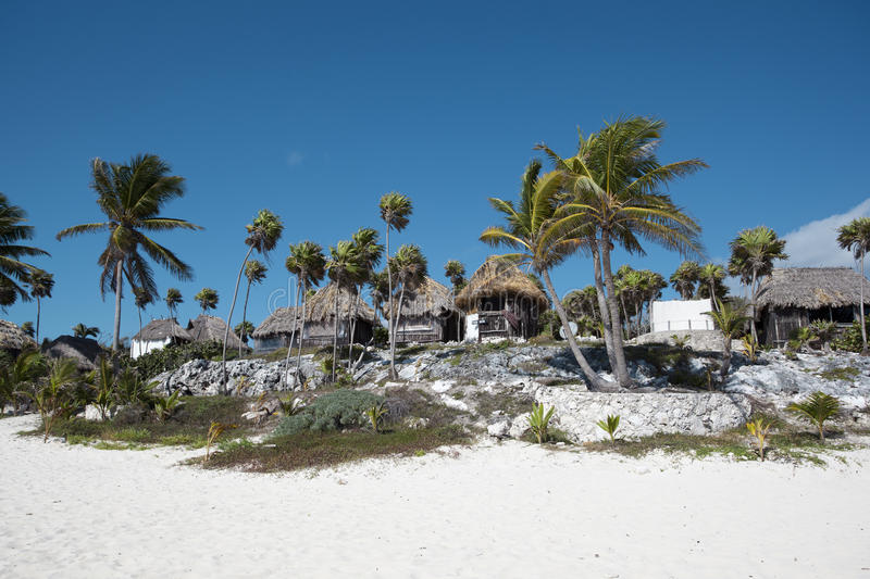 Download Beach Bungalows On A Tropical Island Stock Image - Image: 18602563