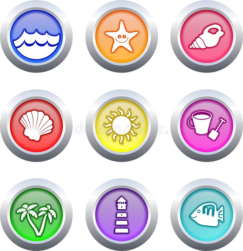 Download Beach Buttons Stock Photography - Image: 3939062