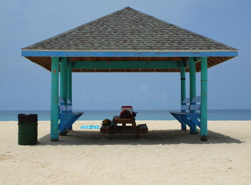 Beach Cabana Cayman Islands stock image