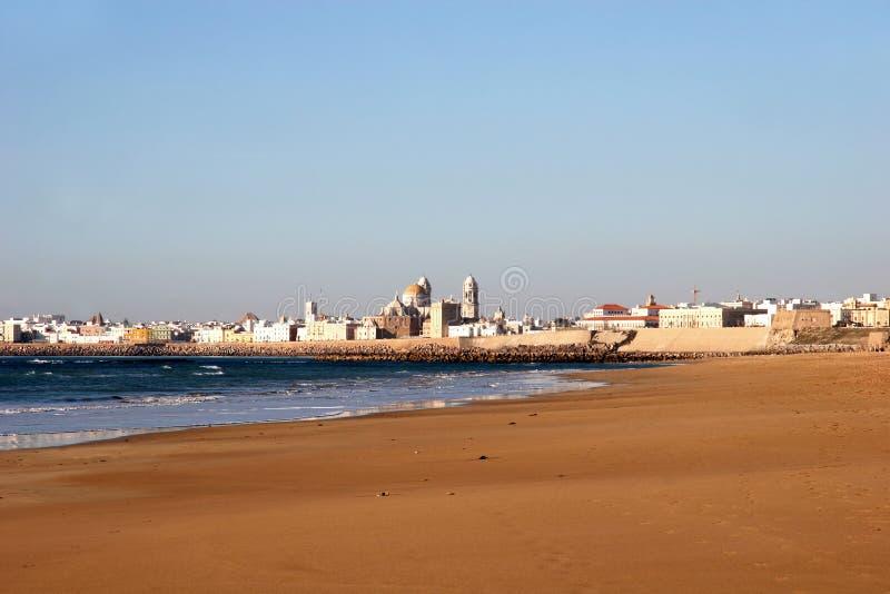 Beach of Cadiz, Spain royalty free stock photography