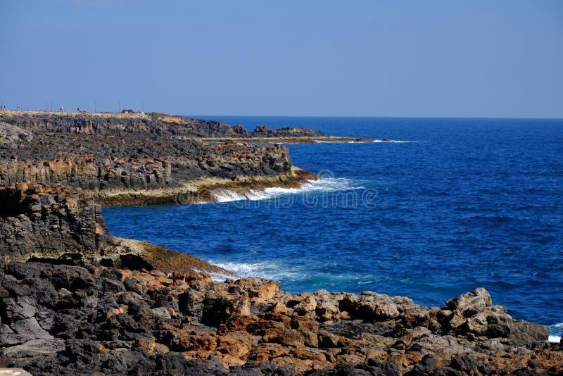 Beach Caleta de Fuste σε Fuerteventura, Κανάρια νησιά στοκ εικόνες