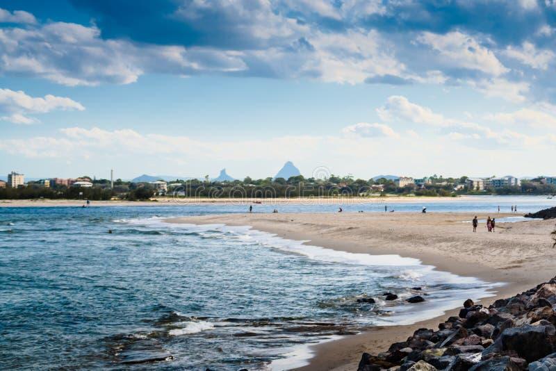Beach At Caloundra royalty free stock photography