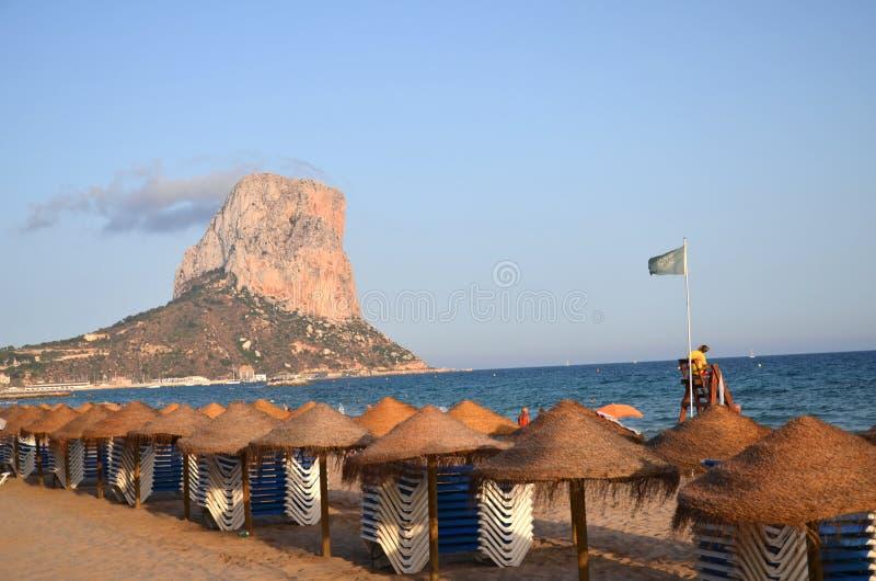 Beach in Calpe, Spain stock photos