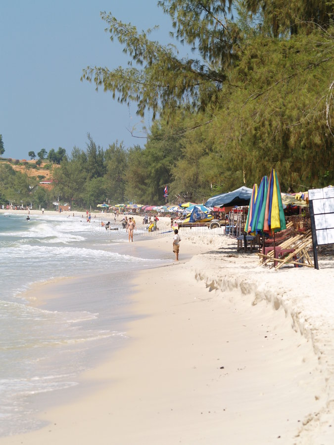 Beach in Cambodia royalty free stock images
