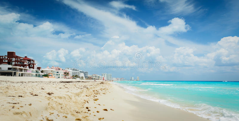 Download Beach in Cancun stock photo. Image of cloudscape, architecture - 24870538