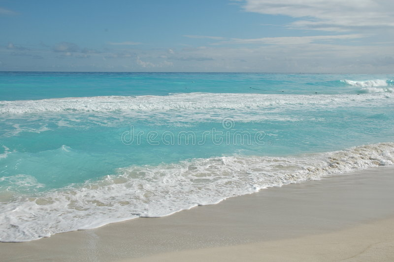 Beach Cancun / Mexico royalty free stock images