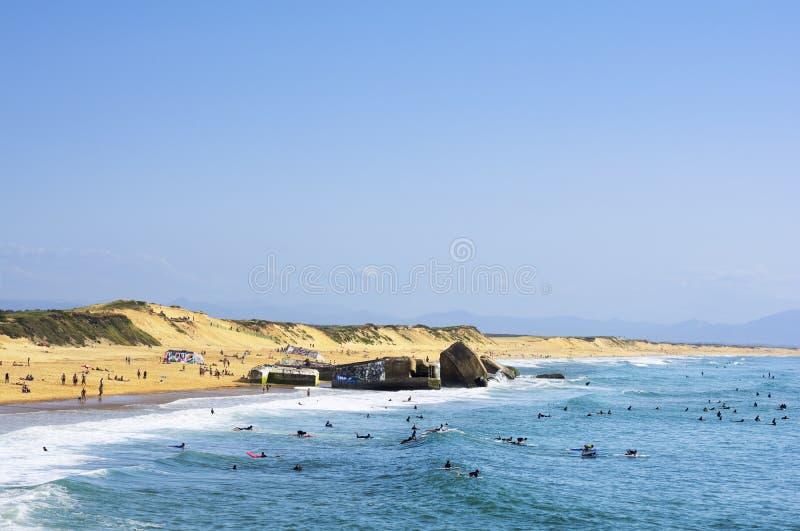 Beach of Capbreton, France royalty free stock photography