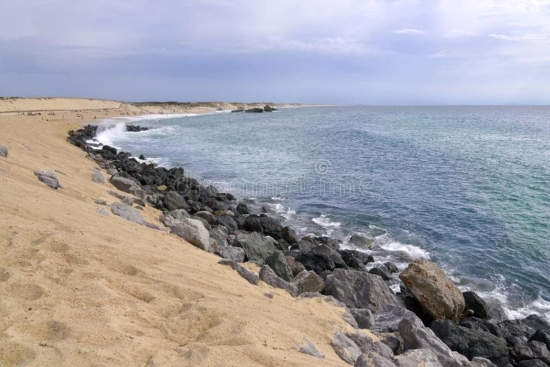 Beach of Capbreton in France royalty free stock photography