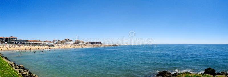 Beach of Capbreton in france stock images