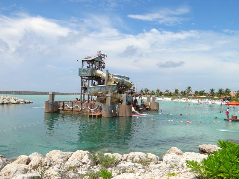 Beach at Castaway Cay stock photo