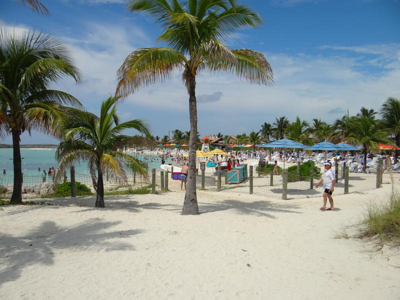 Beach at Castaway Cay. Castaway Cay - Private Disney Island royalty free stock photo