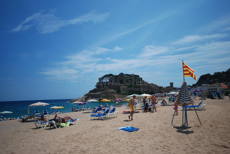 Beach In Catalonia, Spain Editorial Photography