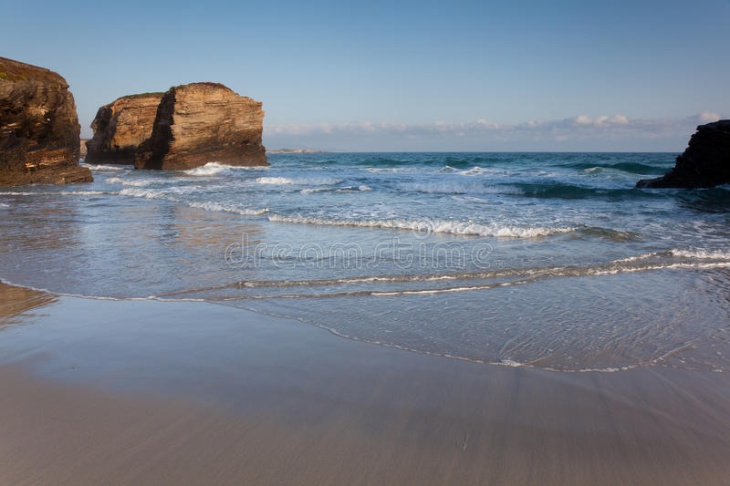 Download Beach of the cathedrals stock photo. Image of ocean, lugo - 15883836