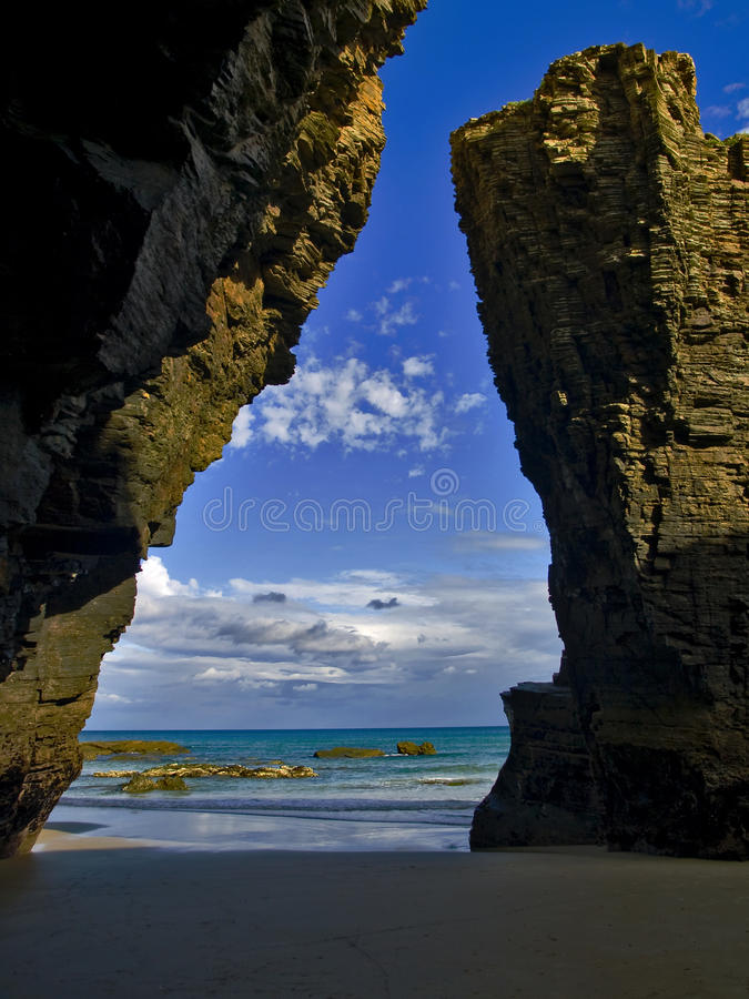 Beach Of Cathedrals Royalty Free Stock Photos